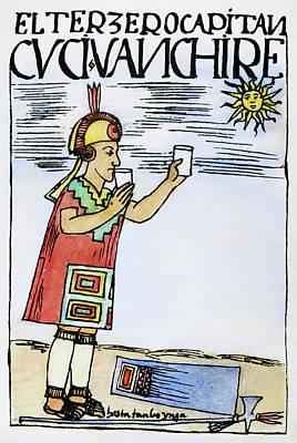 Inca Sun Worship Poster by Granger