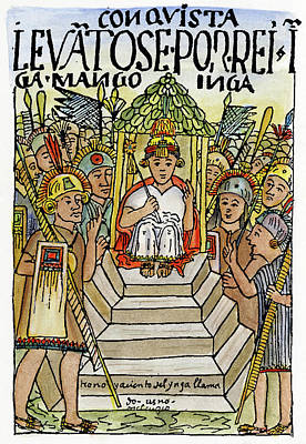 Incan King, 1583 Poster by Granger