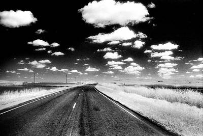 Infrared Photo Of Prairie Road Poster by Donald  Erickson