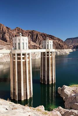 Intake Towers For The Hoover Dam Poster