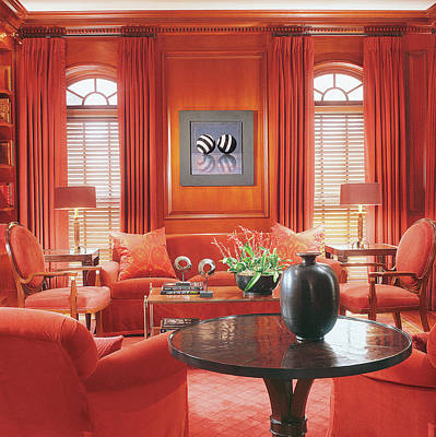 Interior Of Modern Living Room Poster by Durston Saylor
