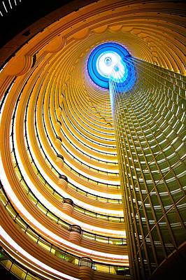 Interiors Of Jin Mao Tower Looking Poster
