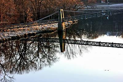 Iowa Falls Swinging Bridge  Poster