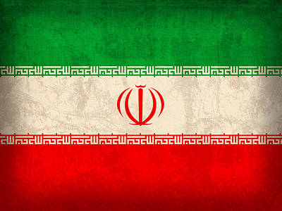 Iran Flag Vintage Distressed Finish Poster by Design Turnpike