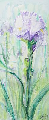 Poster featuring the painting Iris Number One by Cathy Long
