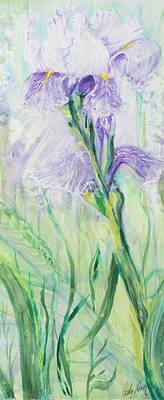 Poster featuring the painting Iris Number Three by Cathy Long