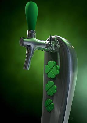 Irish Beer Tap Poster by Allan Swart