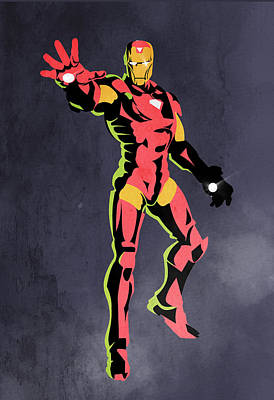 Iron Man  Poster by Mark Ashkenazi