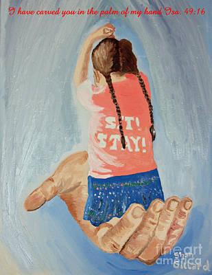 Isaiah Forty Nine Sixteen Poster by Shan Gillard