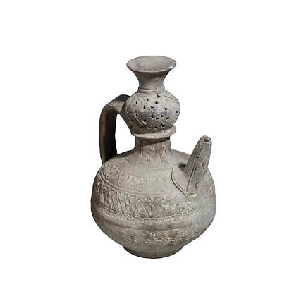 Islamic Terra-cotta Ewer Poster by Photostock-israel
