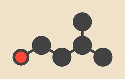 Isoamyl Alcohol Molecule Poster by Molekuul