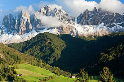 Italy, Near Bolzano, Val Di Funes, St Poster by Peter Adams
