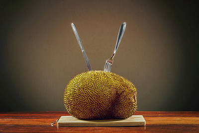Jackfruit On Table Poster by Ktsdesign