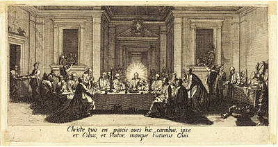 Jacques Callot, French 1592-1635, The Last Supper Poster by Litz Collection