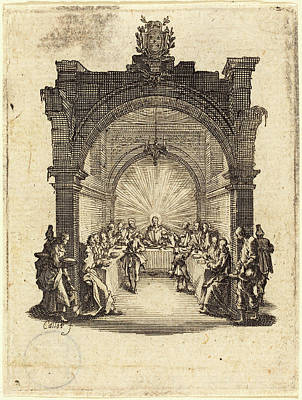 Jacques Callot French, 1592 - 1635, The Last Supper Poster by Quint Lox