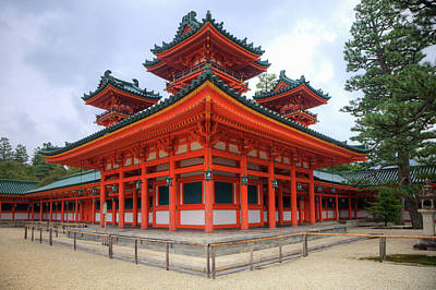 Japan, Kyoto Colorful Shinto Shrine Poster by Jaynes Gallery