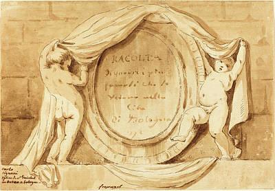 Jean Claude Richard De Saint-non After Jean-honoré Poster by Quint Lox