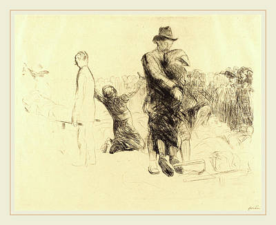 Jean-louis Forain, Lourdes, Transport Of The Paralyzed Poster by Litz Collection