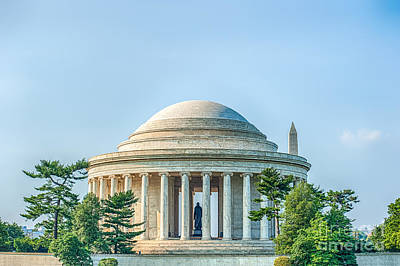 Jefferson Memorial Poster by Ray Warren