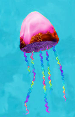 Poster featuring the painting Jelly The Fish by Deborah Boyd