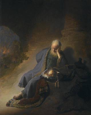 Jeremiah Lamenting The Destruction Of Jerusalem Poster by Celestial Images