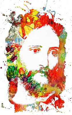 Jesus Christ - Watercolor Poster