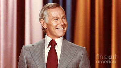 Johnny Carson Poster by Marvin Blaine