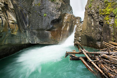 Johnston Falls And Creek, Johnston Poster by Michel Hersen