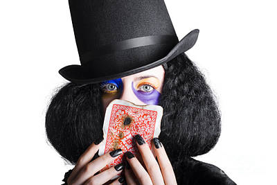 Joker With Burnt Playing Card Poster