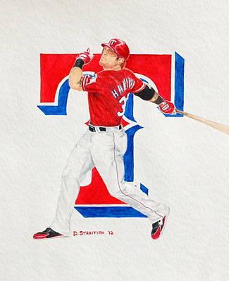 Josh Hamilton - Texas Rangers Poster