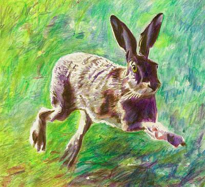Joyful Hare Poster