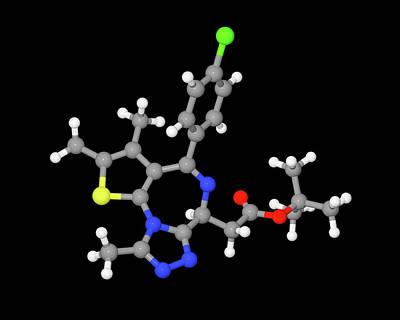 Jq1 Experimental Drug Molecule Poster by Dr Tim Evans