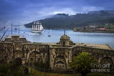 Juan Sebastian Elcano Arrival To The Port Of Ferrol Poster