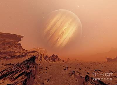 Jupiter From Io, Artwork Poster by Detlev van Ravenswaay