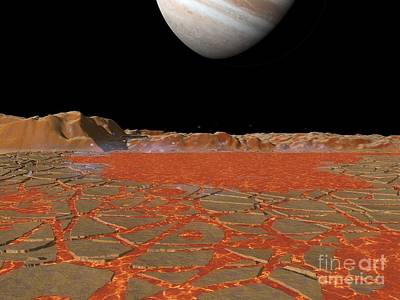Jupiter From Io, Artwork Poster by Walter Myers