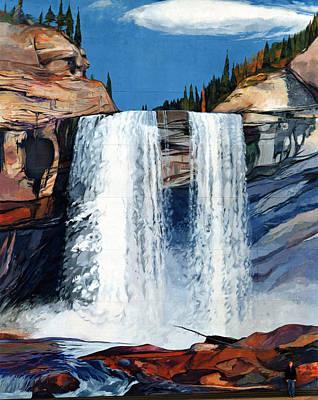 Kakwa Falls Mural Poster
