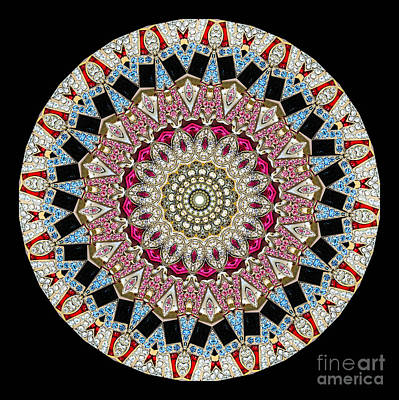 Kaleidoscope Colorful Jeweled Rhinestones Poster
