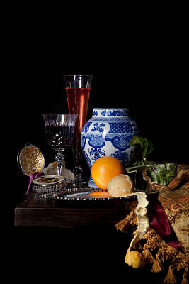 Kalf - Still Life With A Chinese Porcelain Jar  Poster by Levin Rodriguez