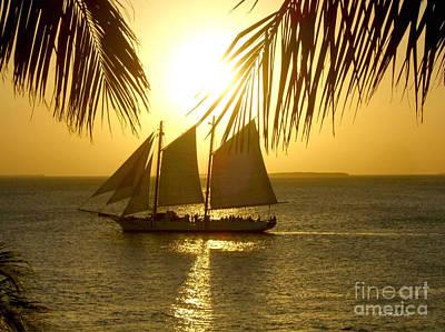 Key West Sunset Poster by Joan  Minchak