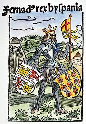 King Ferdinand V Of Castile (1452-1516) Poster by Granger