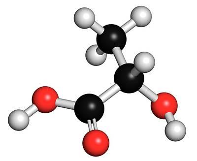Lactic Acid Milk Sugar Molecule Poster