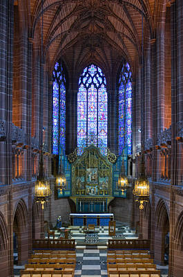 Lady Chapel Inside Liverpool Cathedral Poster by Ken Biggs