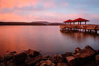 Lake Dardanelle Sunrise Poster by Kurt Jones