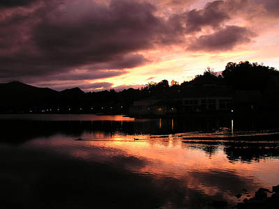 Poster featuring the photograph Lake J Sunset by Craig T Burgwardt