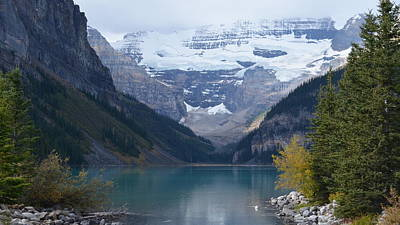 Lake Louise In Fall Poster by Cheryl Miller