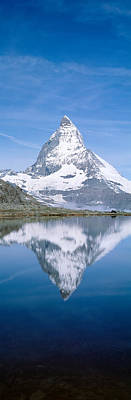 Lake, Mountains, Matterhorn, Zermatt Poster by Panoramic Images
