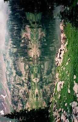 Lake Reflection Sideways Poster