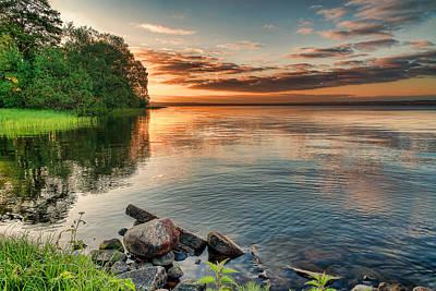 Lake Sunrise Poster