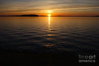 Lake Waconia Regional Park Sunset  Poster by Jacqueline Athmann