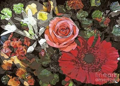Poster featuring the digital art Lancaster Flowers by Joseph J Stevens